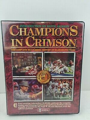 ALABAMA FOOTBALL CHAMPIONS IN CRIMSON BOXED SET OF CDS BEAR BRYANT MUSEUM CD-Rom