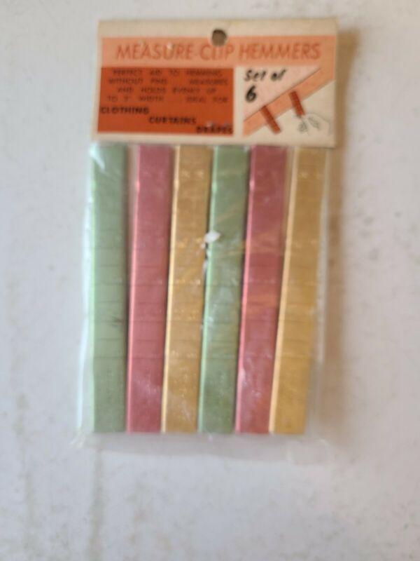 Vintage CHADWICK Measure Clip Hemmer   Set of 6 Original Package Unopened