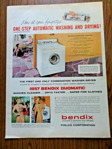 1956 Bendix Automatic Washing & Drying Ad   Duomatic