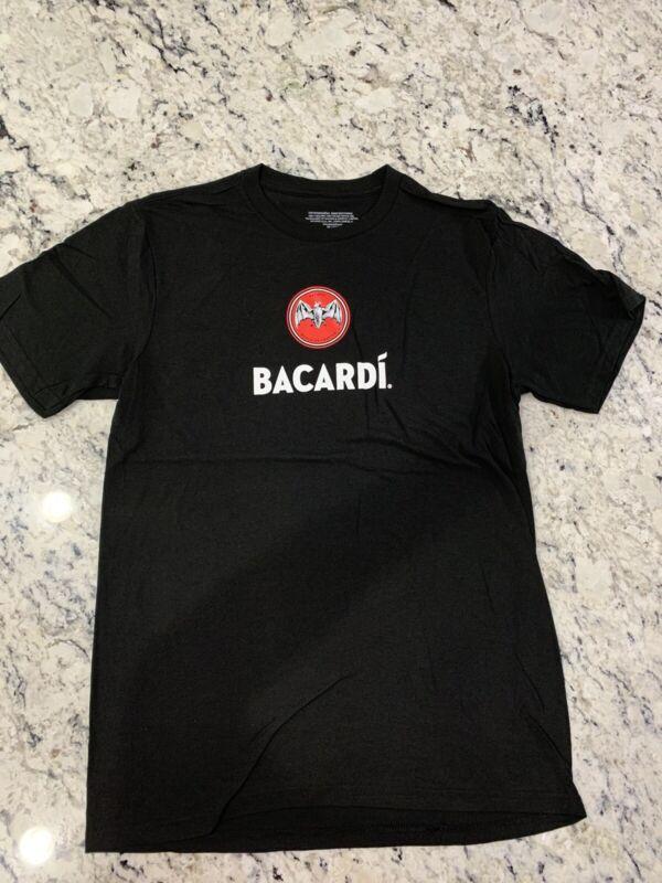 Bacardi Rum Black Shirt Large Mens New