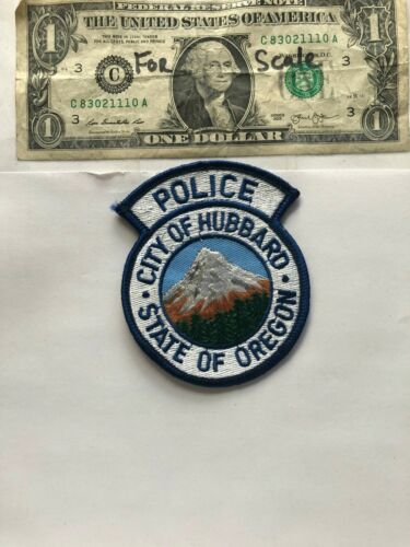 Hubbard Oregon Police Patch un-sewn great condition