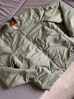 Vans Off The Wall Green Bomber Jacket Small