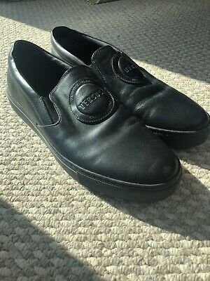 Versus Versace Mens Black Leather Loafer Slip On Mocassins Shoes 43EU/9UK
