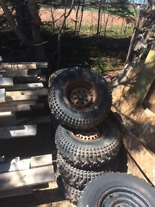 "11"" ATV rims off of an 86 Honda fourtrax"