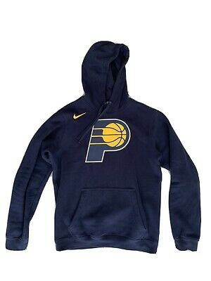 Nike NBA Indiana Pacers Logo Hoodie College Navy Small