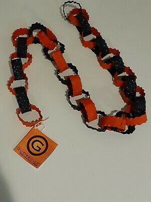 Retired Glitterville Metal Halloween Chain Garland