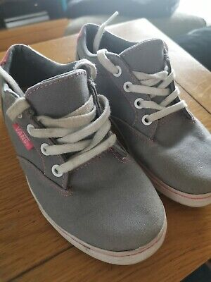 Grey and pink Vans trainers size 13uk junior