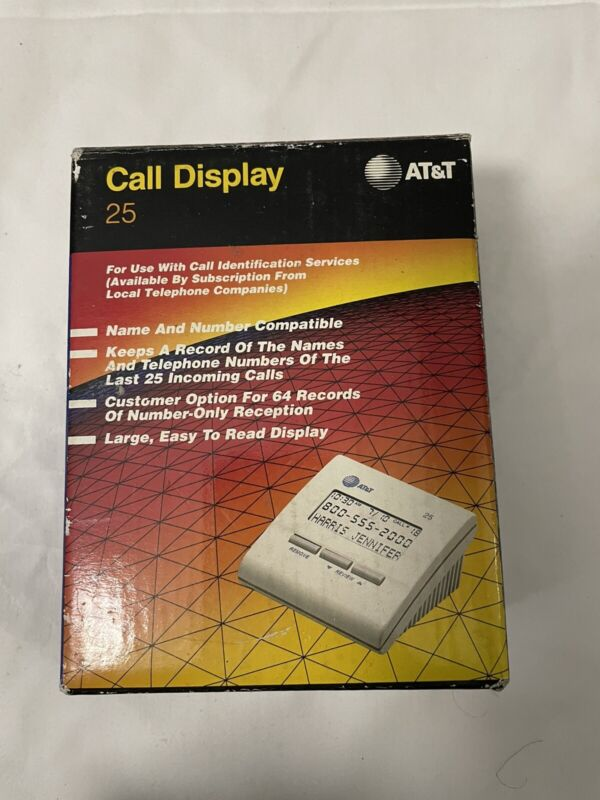 AT&T call display 25 caller ID system call screener
