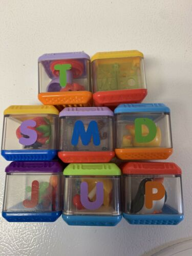 Fisher Price PEEK A BOO Blocks Letter ALPHABET Replacement Piece LOT