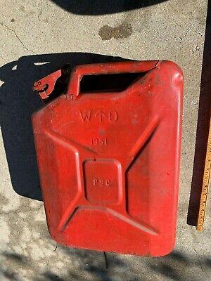 Vintage 1951 Usa 5 Gallon Jerry Gas Can Korean War