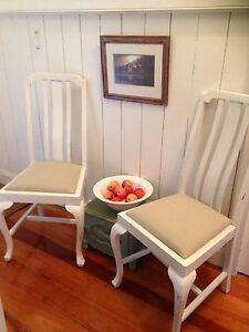 Antique English Oak panelled chairs Boonah Ipswich South Preview
