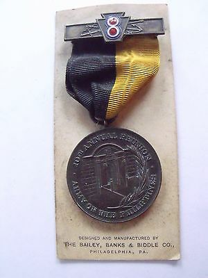RARE 8th CORPS SOCIETY ARMY OF PHILIPPINES SPAN AM VETERAN MEDAL 10th ANNIV