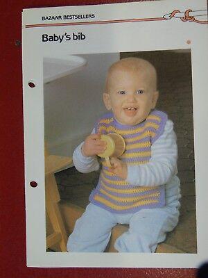(Baby Bib crochet PATTERN INSTRUCTIONS FREE SHIPPING)