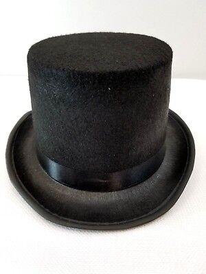 Lot of 6 Adult Top Hats Black Felt Dance Costume Jazz Tap Snowman Theater New - Wholesale Top Hats