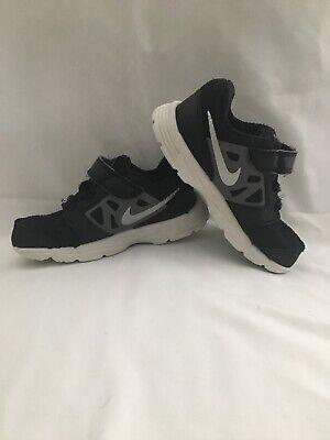 Nike Flex Toddler Shoes 8c Black/Gray Velcro