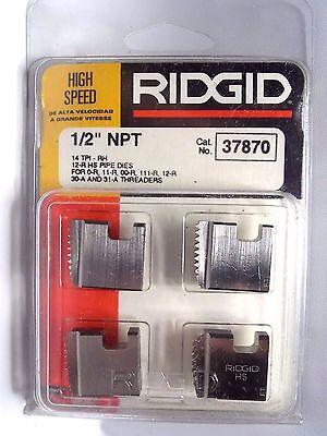 Ridgid 37870 12 Npt 12-r Pipe Threading Dies Hs O-r 11-r 111-r 31-a 00-r