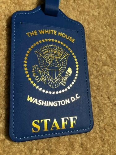 GOLD PRESIDENTIAL SEAL WHITE HOUSE STAFF LUGGAGE TAG (SET OF 3 TAGS)