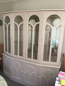 Glass china cabinet Moorebank Liverpool Area Preview