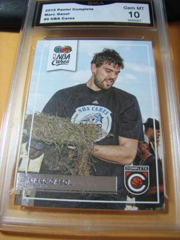 MARC GASOL GRIZZLIES 2015 PANINI COMPLETE NBA CARES # 9 GRADED 10  L@@@K