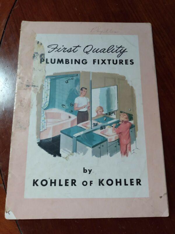 Vintage 1957 KOHLER Plumbing Fixtures Bathroom Sales Book Catalog Bath Lavatory