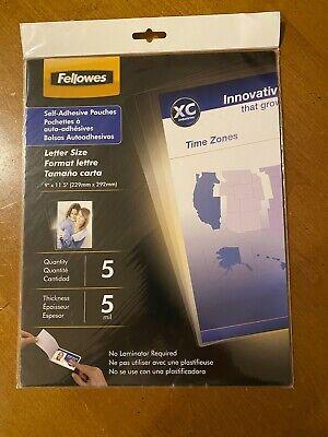 Fellows Laminating Pouches - 9 X 12 - Self Adhesive - 5 Sheets Crc52205