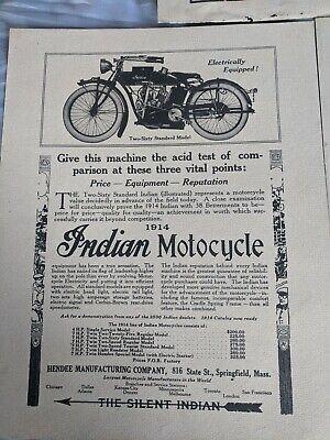 Vintage Indian Motorcycle Dealer Advertisement 1914 Two-Sixty Standard Model