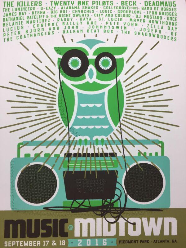Music Midtown Atlanta - 2016 Artist Unknown poster Atlanta, GA Piedmont Park