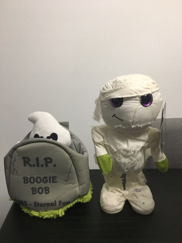 Gemmy Halloween Animated Dancing Mummy Plays Thriller and Boogie Bob NWT