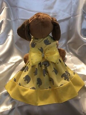 Cute Medium dog dress Pet Clothes Elephant themed dog outfit Pet Apparel
