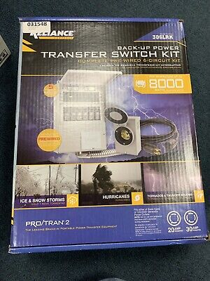Reliance Controls Back-up Power Transfer Switch Kit 306lrk- Up To 8000 Watts