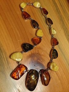 Amber Necklace and 2 Pendants