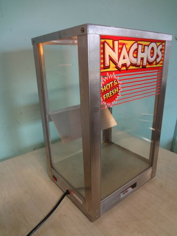 "HD COMMERCIAL ""APW WYOTT"" C.TOP HEATED, LIGHTED NACHO  MERCHANDISER/DISPLAY CASE"