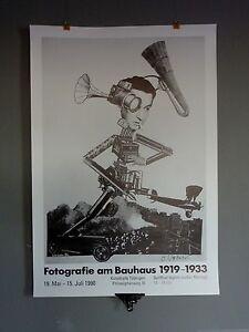 Fotografie am Bauhaus 1919-1933 / Ausstellung Tübingen 1990 * Original Plakat