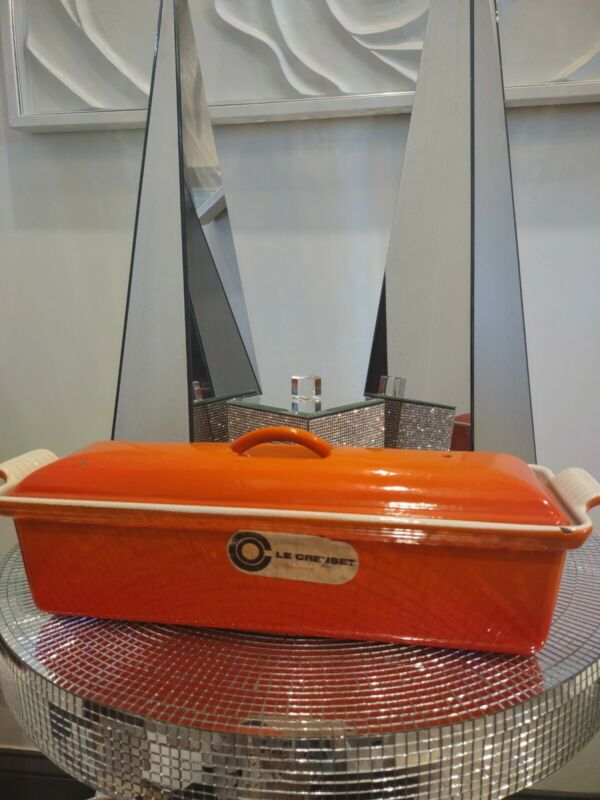 Le Creuset #32 Flame Orange Pate Loaf Pan Cast Iron Enameled France Vintage EUC