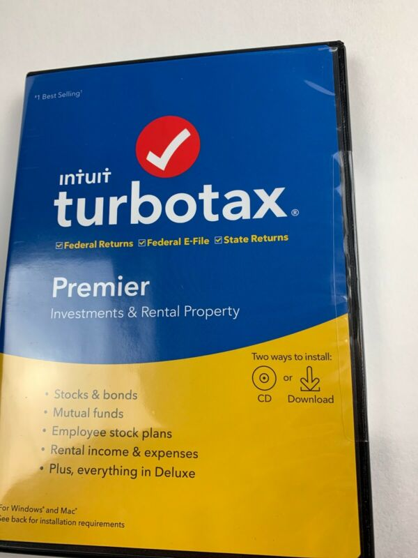 @ TURBO TAX PREMIER  2019 - Federal + State - PC/Mac Disc - NEW FACTORY SEAL