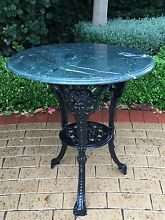Green Marble Top Cast Iron Table(LAST DAY) Hawthorn Mitcham Area Preview