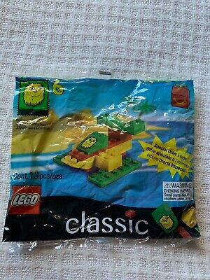 New Sealed LEGO 1999 McDonalds Happy Meal #6 Yellow Fry Guy Seaplane Poly Bag