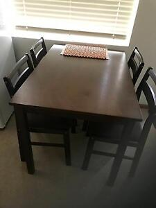 4 seater Ella dining table (brown color) with 4 chairs included Chatswood Willoughby Area Preview