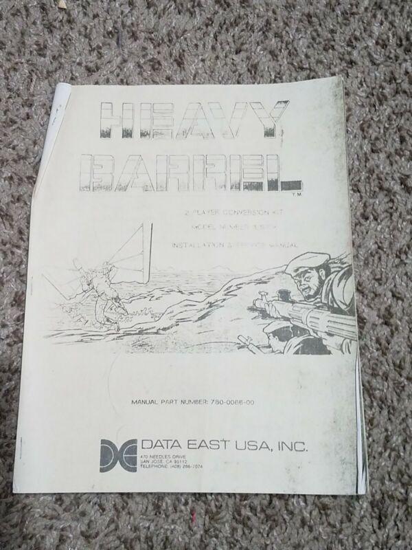 Data East Heavy Barrel Arcade Video Game Operation Maintenance Manuals