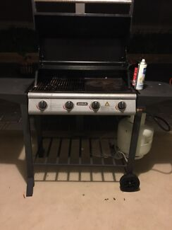 4 Burners BBQ with large gas bottle  Sturt Marion Area Preview
