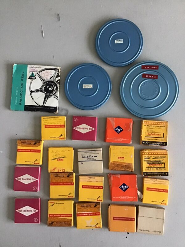8mm home movies lot of 23 films 1960s & 70s