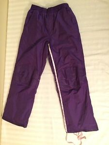 Purple girls ski pants size 16 or xl