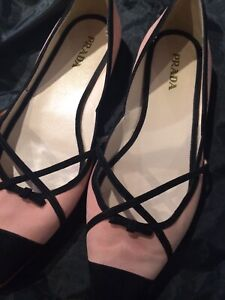 Authentic Prada and Gucci ballet flats