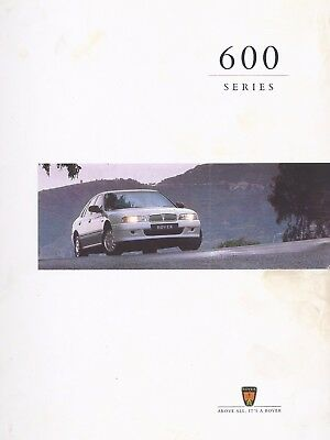 """Rover 600 Series Glossy Sales Brochure. 44 Pages 12.5"""" x 10.5"""". Publ 4823/A"""