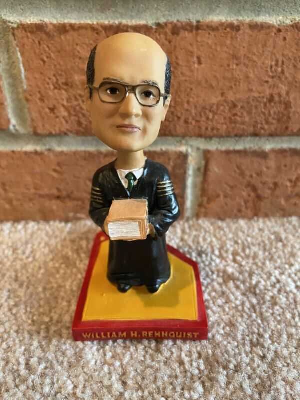 William Rehnquist [red] Bobblehead Green Bag Supreme Court Justice - new in box