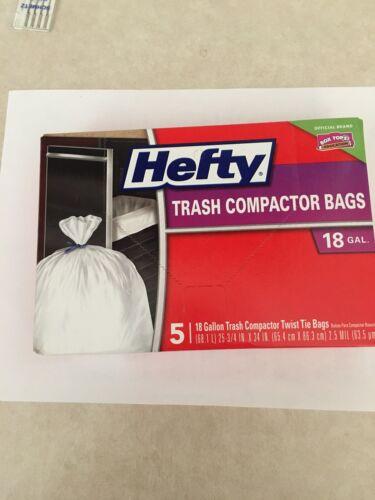 Hefty E21218 5 Count Trash Compactor Bags