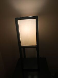 2 night lamp black colour solid wood