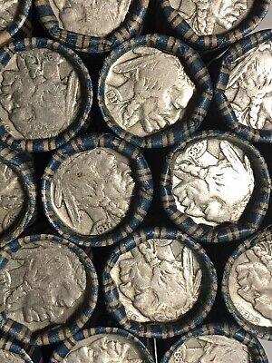 Buffalo Nickels: Full Date Machine Wrapped 40 Coin Roll