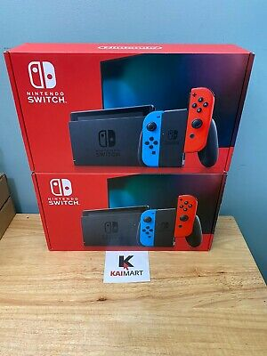 Nintendo Switch 32GB Console with Neon Red and Blue Joy-Con V2 (NEWEST MODEL)