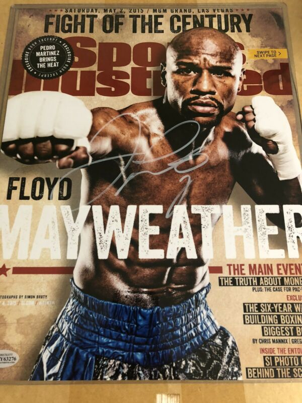 Autographed Floyd Mayweather Jr 11x14 photo Beckett signed sticker only